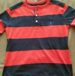 Striped Henley Polo TShirt